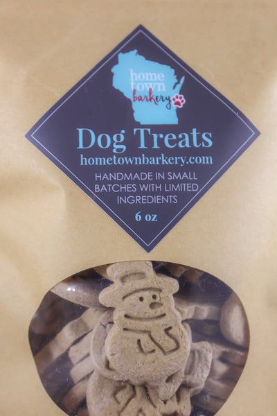 Peanut Butter Snowman Dog Treats