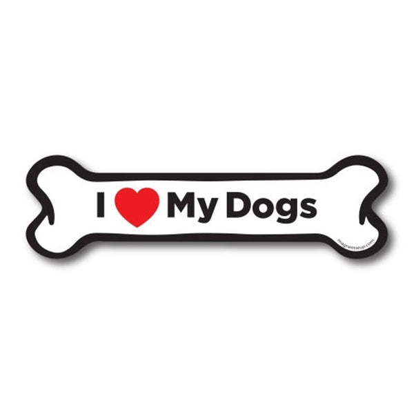 I LOVE MY DOGS MAGNET