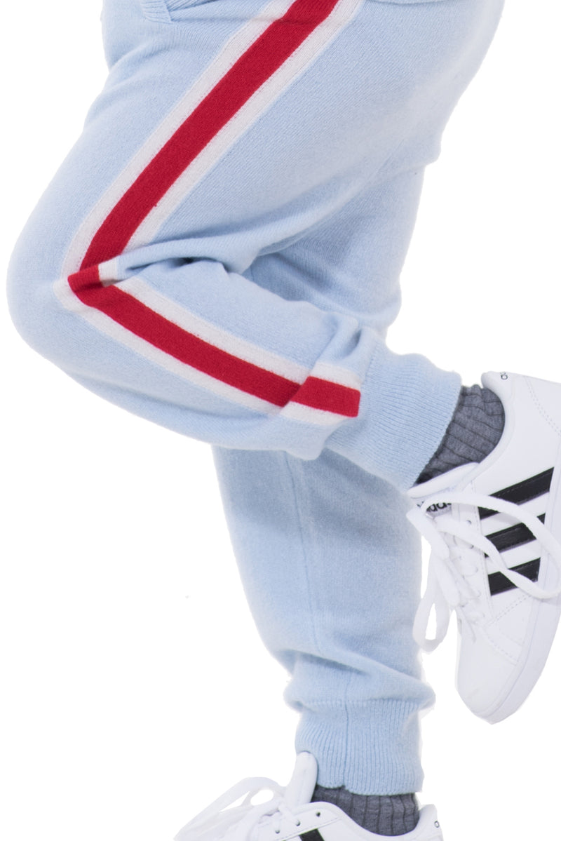 Kids Striped Cashmere Joggers