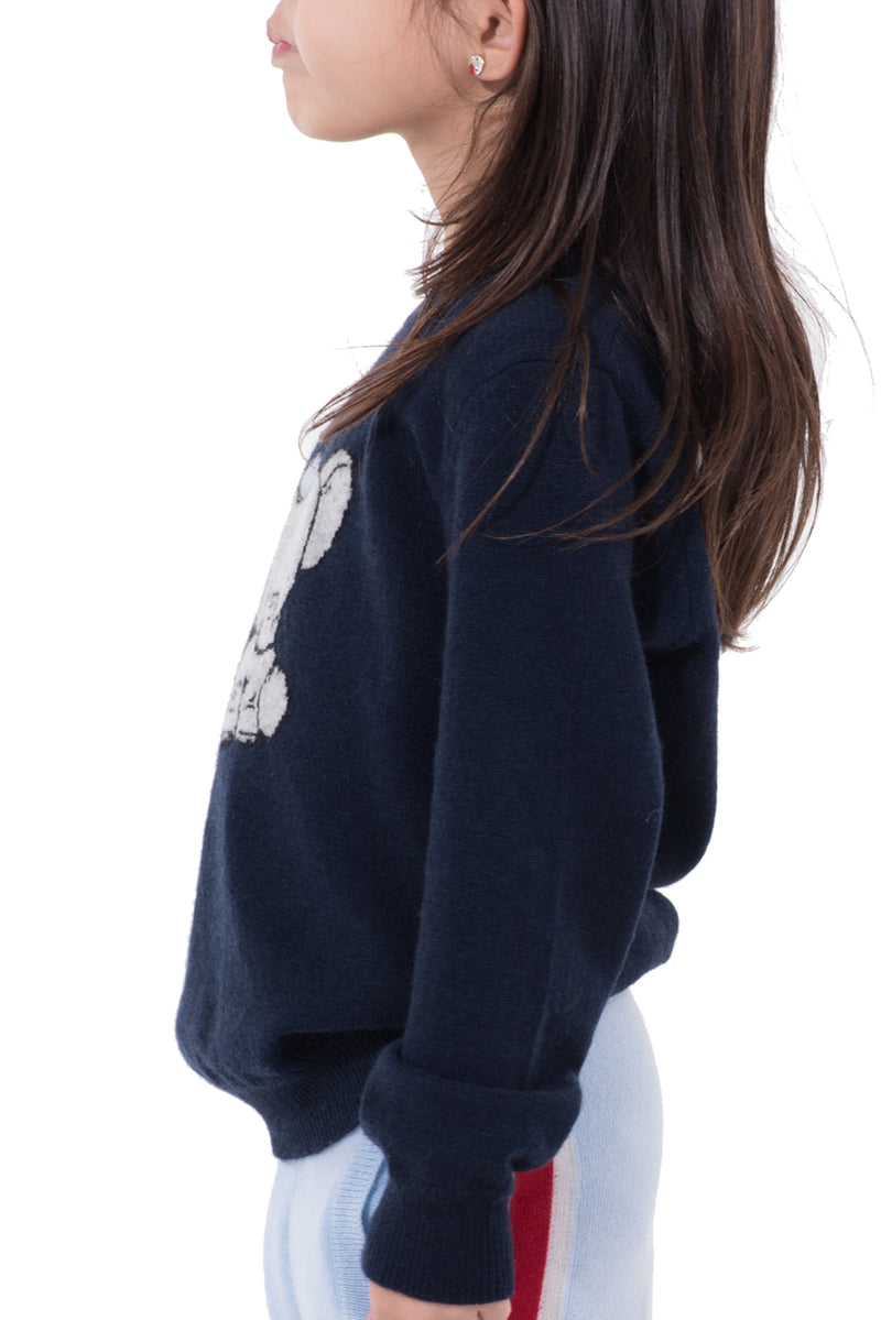 Kids Printed Cashmere Sweater