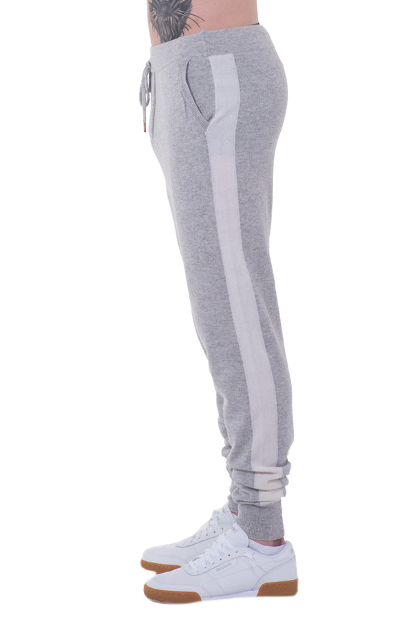 Mens Striped Cashmere Joggers