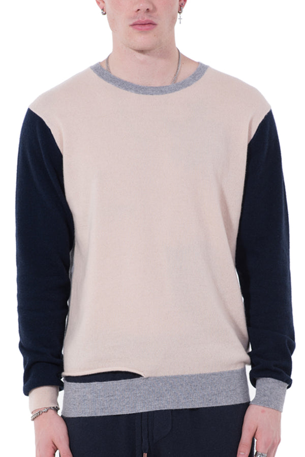 Mens Cashmere Color-Block