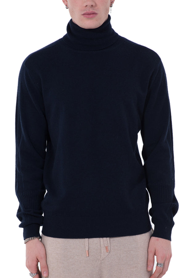 Mens Turtleneck Cashmere Sweater