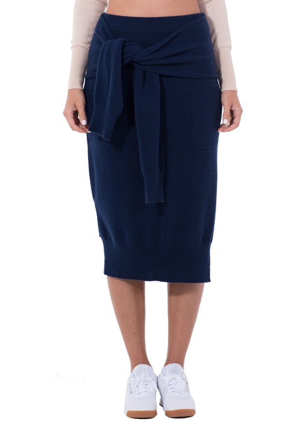 WOMENS CASHMERE SKIRT