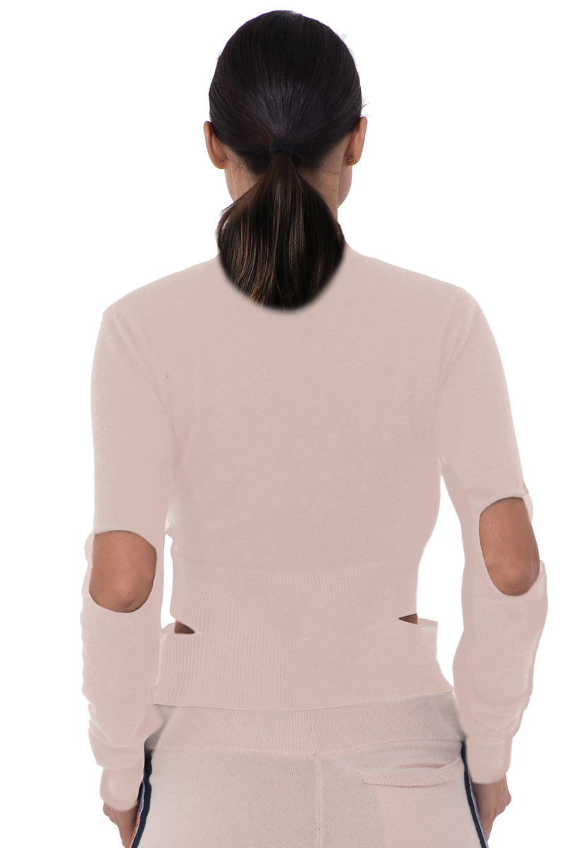 Womens Cashmere Mock V Neck