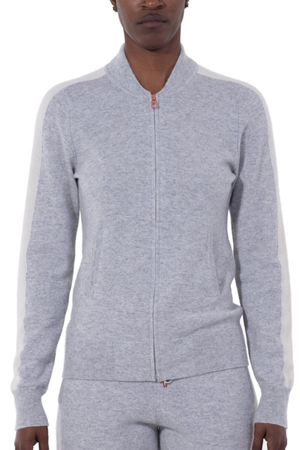 Womens Cashmere Track Jacket