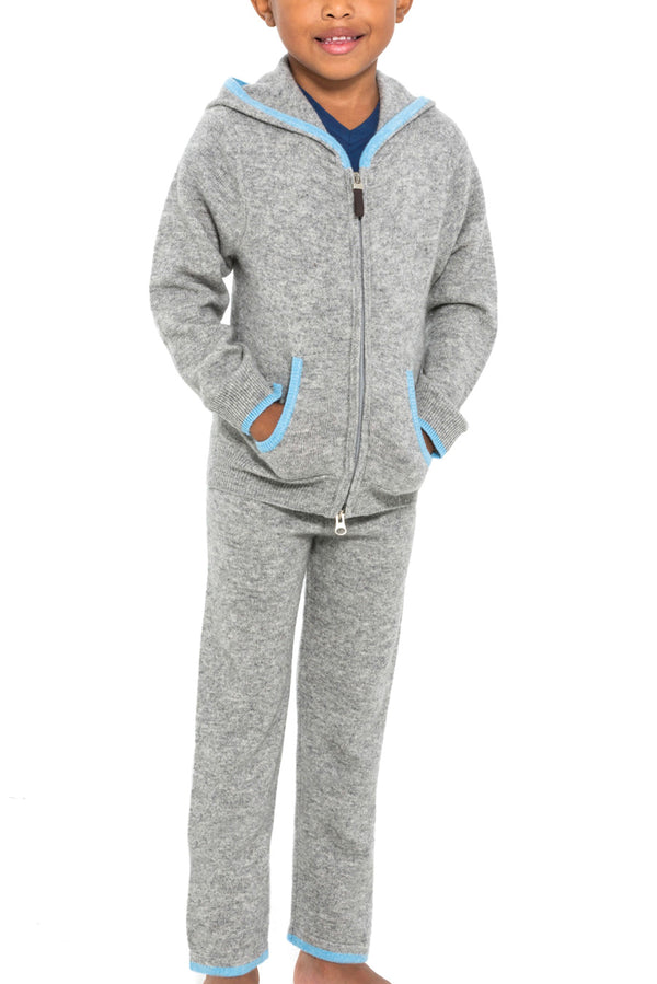 Kids Cashmere Joggers and Track Hoodie
