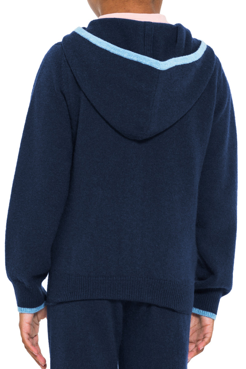 Kids Cashmere Track Hoodie