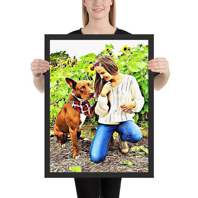 Custom Pet Framed Canvas Wall Art
