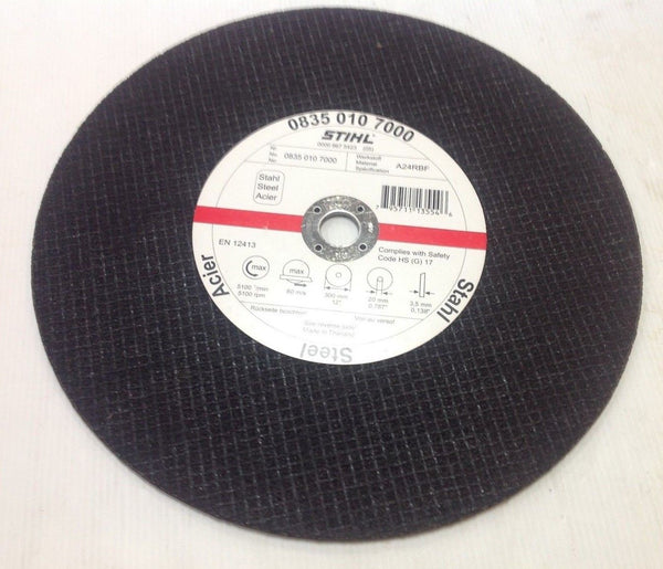 "Stihl 08350107000 Abrasive Cutting Wheel Disk (300mm (12"") Steel"