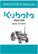 Kubota Operators Manual - B2150HST Tractor