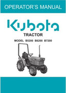 Kubota Operators Manual - B5200, B6200, B7200 Tractor