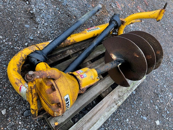 "Used Danuser/ Opico Heavy Duty Post Hole Borer 18"" Auger"