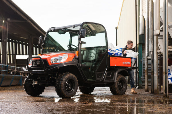 New Kubota RTVX900 Rough Terrain Vehicle ( Orange, HDWS, ROPS  )