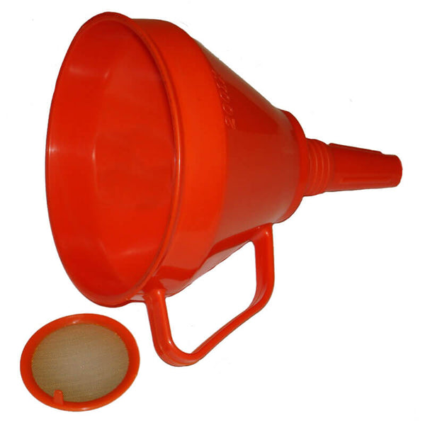 Universal 6 1/2 Inch Round Plastic Funnel with Handle