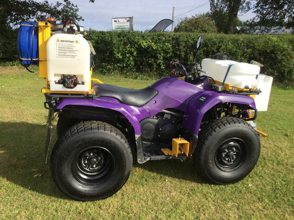 Used Yamaha Quad Grizzly 350 4wd with Vale PKL Spraying Equipment.