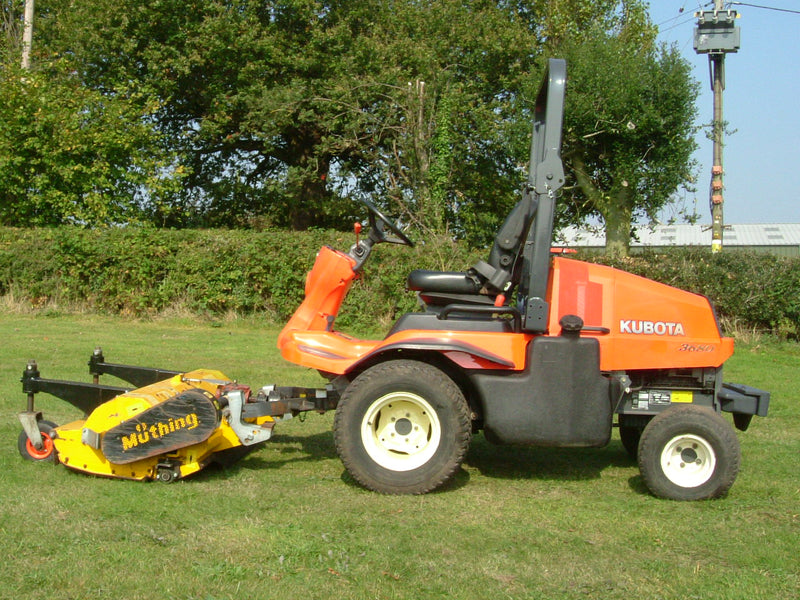 Kubota F3680 Mower, USED Kubota F3680 Outfront Mower Complete With Muthing  Flail Mowing Deck