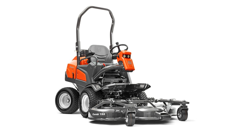 Husqvarna P525D Commercial Diesel Ride on Mower with Combi 155cm Outfront Mower Deck