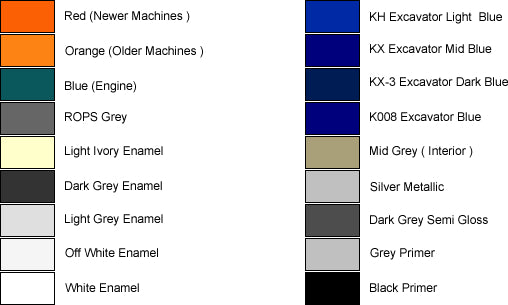 ( DARK BLUE KX-3 U-3 GLOSS ) 5 Litre - W259999-6006 Kubota Paint
