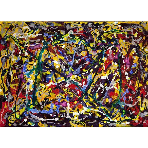 drip-abstract-Epsilon 8 - Abstract Wall Art Print-style-of-Jackson-Pollock