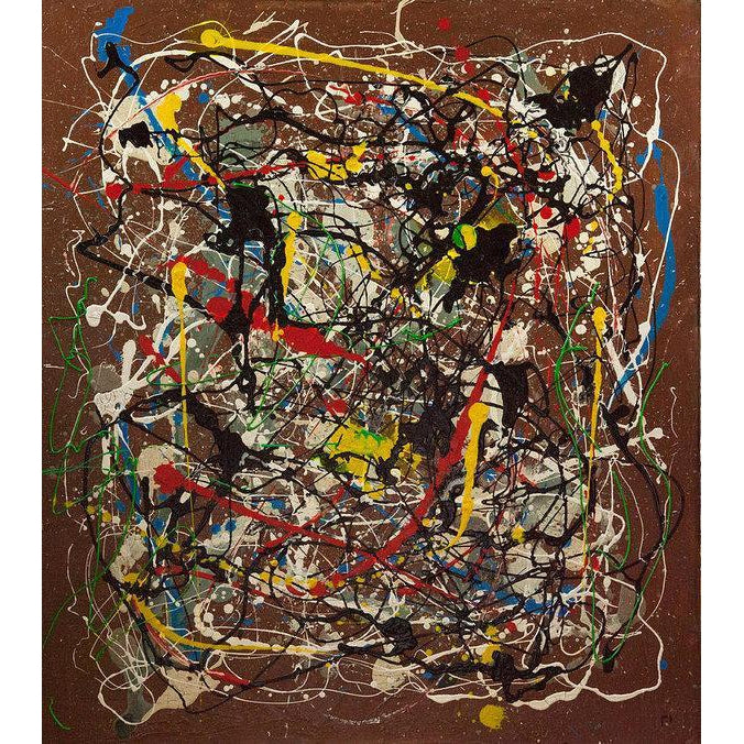 drip-abstract-Iota 16 - Abstract Wall Art Print-style-of-Jackson-Pollock