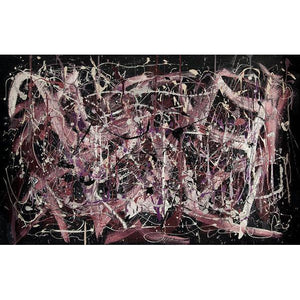 drip-abstract-Iota 4 - Abstract Wall Art Print-style-of-Jackson-Pollock