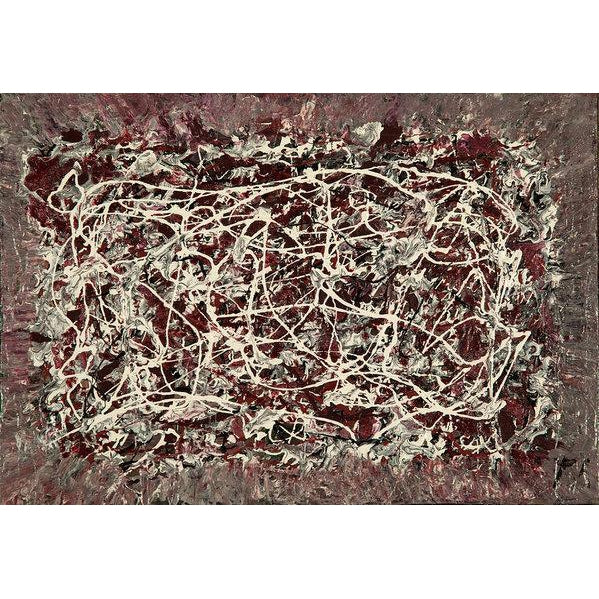 drip-abstract-Iota 8 - Abstract Wall Art Print-style-of-Jackson-Pollock