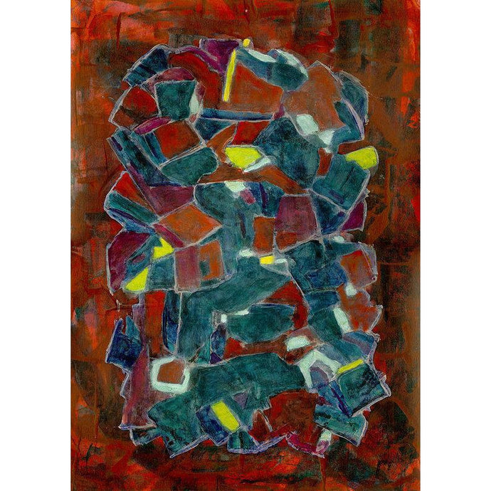Art Print, Rho(ρ) #25 - Abstract Wall Art Print,Sensory Art House