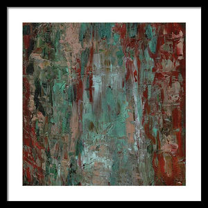 red-abstract-art-Gamma #120 Abstract Wall Art - Framed Print-Sensory Art House
