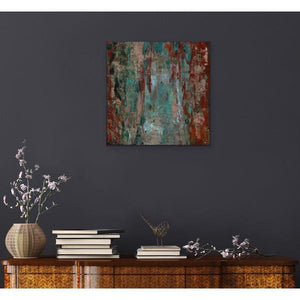 red abstract art Gamma 120 Abstract Wall Art Print-Sensory Art House