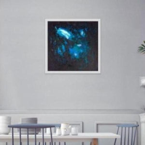 blue abstract art-Gamma 32 Abstract Wall Art Print-Paul Blenkhorn-Sensory Art House
