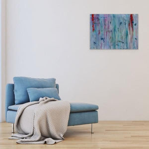 blue abstract art-Gamma 49 Abstract Wall Art Print-Paul Blenkhorn-Sensory Art House