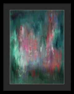 blue-abstract-art-Gamma(γ) 114 Abstract Wall Art - Framed Print-Sensory Art House