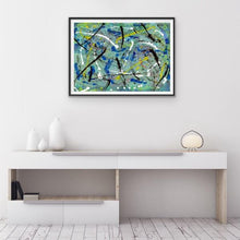 Load image into Gallery viewer, drip-abstract-Iota 30 Abstract Wall Art Print-style-of-Jackson-Pollock