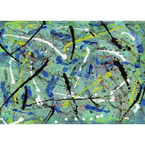 drip-abstract-Iota 30 Abstract Wall Art Print-style-of-Jackson-Pollock