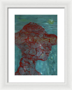 Framed Print, Kappa #14 Abstract Wall Art - Framed Print,Sensory Art House