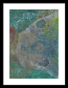 Framed Print, Kappa #16 Abstract Wall Art - Framed Print,Sensory Art House