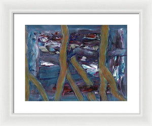 Framed Print, Rho #44 Abstract Wall Art - Framed Print,Sensory Art House