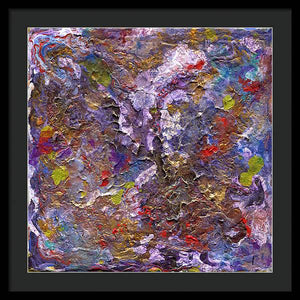 purple-abstract-Epsilon 52 Abstract - Framed Print