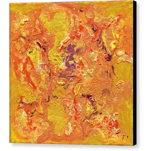 orange-abstract-Gamma 129 Abstract - Canvas Print