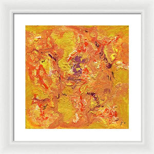 orange-abstract-Gamma 129 Abstract - Framed Print