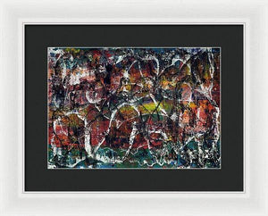 Framed Print, Gamma #16 Abstract Wall Art - Framed Print,Sensory Art House