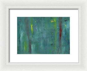 Framed Print, Gamma #46 Abstract Wall Art - Framed Print,Sensory Art House