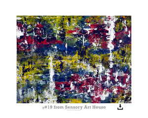 Print Ready Art Download, Gamma(γ)#19  Painting - Digital  Download,Sensory Art House