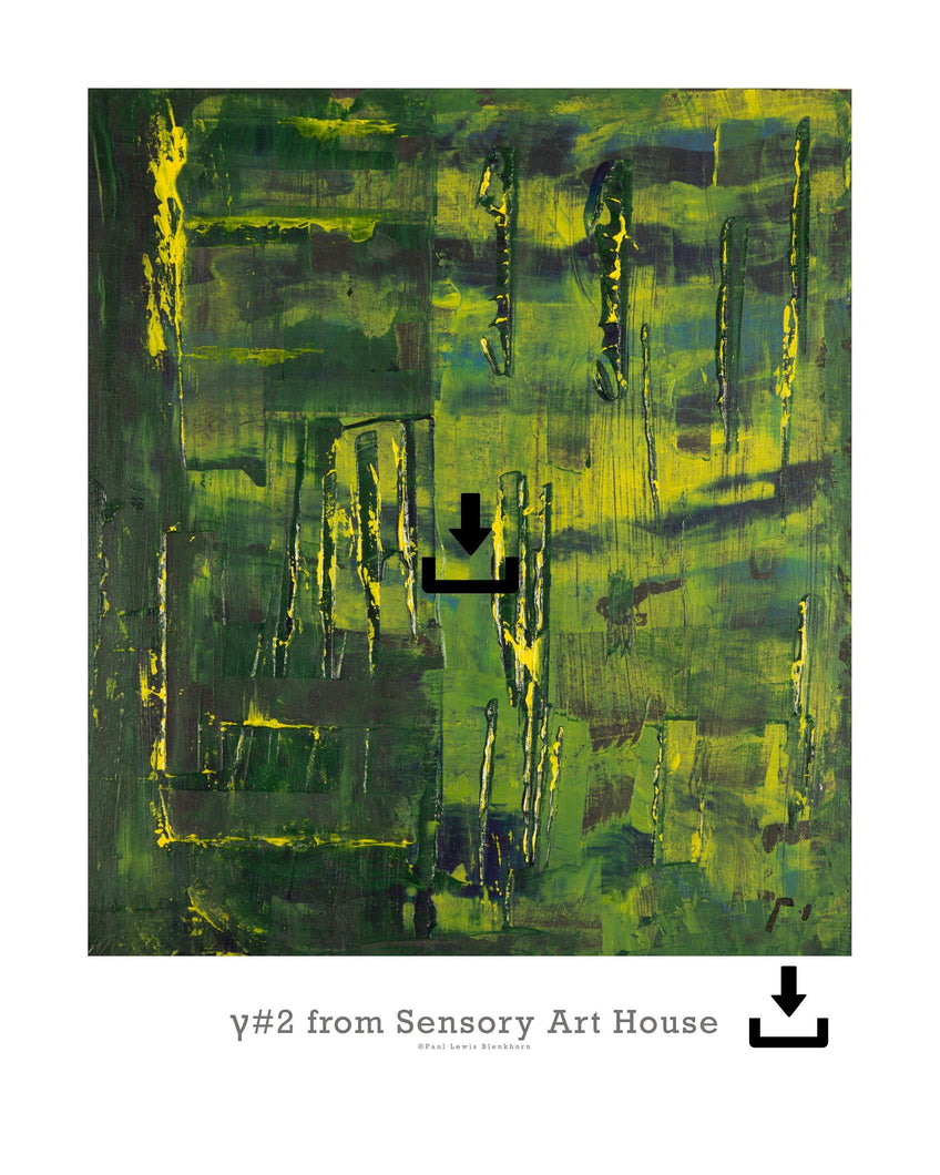 Print Ready Art Download, Gamma(γ)#2  Painting - Digital Download,Sensory Art House