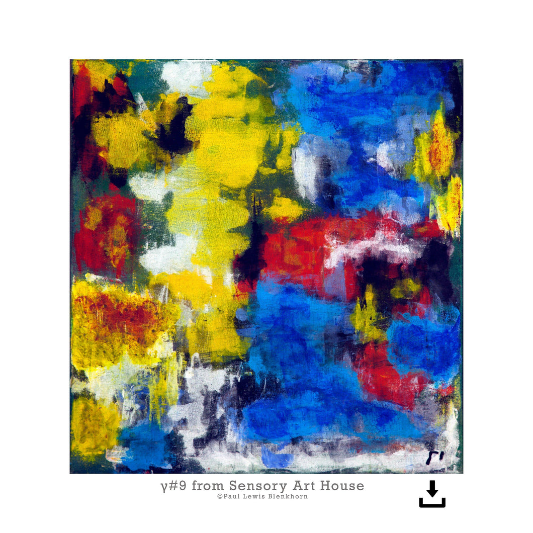 Print Ready Art Download, Gamma(γ)#9  Painting - Digital  Download,Sensory Art House