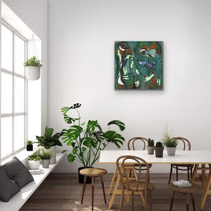 green-abstract-art-Epsilon 26 Abstract Wall Art Print-Sensory Art