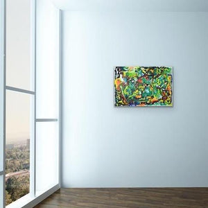 green abstract art -epsilon 45, green-Sensory Art House