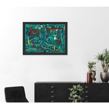 Load image into Gallery viewer, green abstract art -gamma 111, green-Sensory Art House