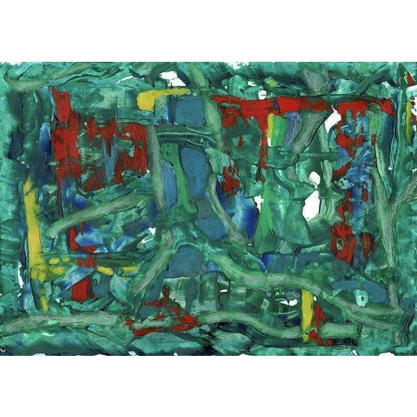 green abstract art -gamma 111, green-Sensory Art House